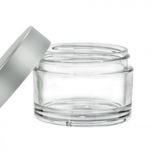 45ml PET Plastic Jar, Silver Cap
