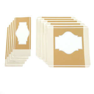 Customizable Labels Kit - Kraft Brown, 10 un.