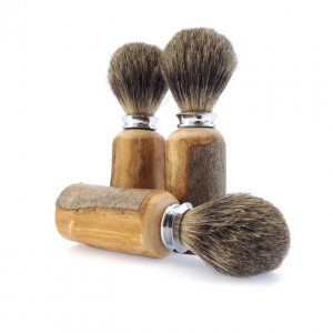 Shaving Brush, Handmade Mouton noir