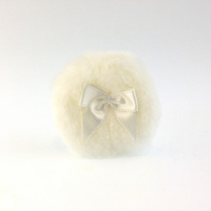 White Powder Puff 5cm, 5 count