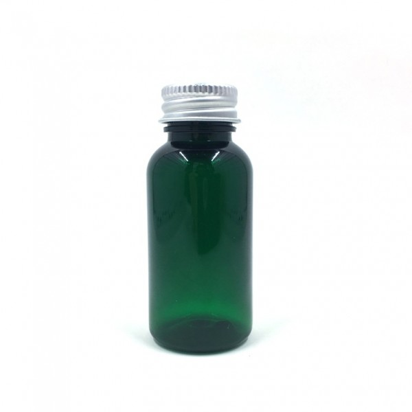 25ml, Green PET Plastic Bottle, Aluminium Cap